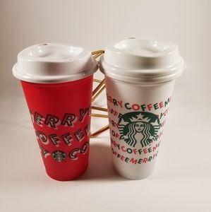 🆕️2 Starbucks, Holiday 2019, Reusable Hot Cups